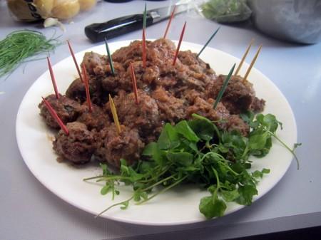 Asian venison meatballs